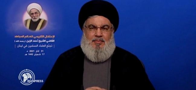 امریکہ کے بارے میں قائد انقلاب اسلامی کی پیشگوئي صحیح ثابت ہو رہی ہے: سید حسن نصر اللہ